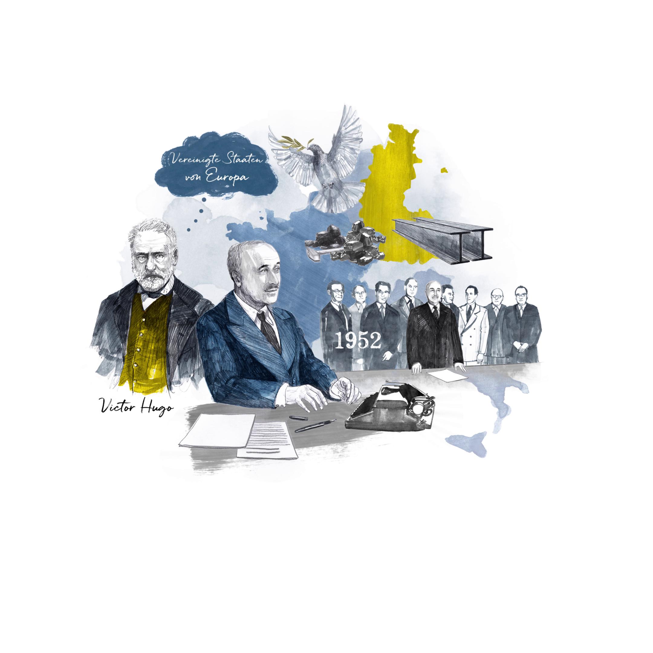 COMING SOON: Illustrationen für das Jean-Monnet-Haus, eine Dauerausstellung des Europäischen Parlaments