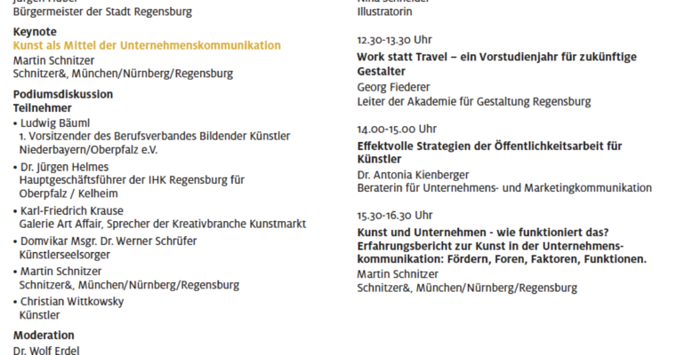 Workshop | DienstleisterIn und/oder KünstlerIn im Rahmen des IHK Symposiums: Der Regensburger Kunstmarkt