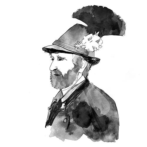Illustrationen für Wörterbuch Bairisch-English