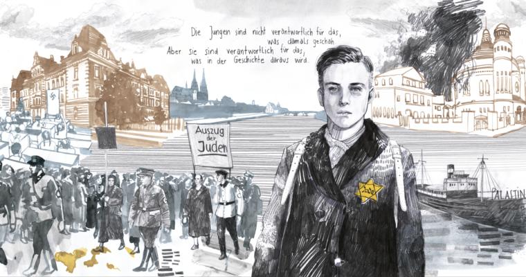 """""""Denk-mal"""": ein illustriertes Gedenken an den Schüler Paul Öttinger und den Schandmarsch in Regensburg"""