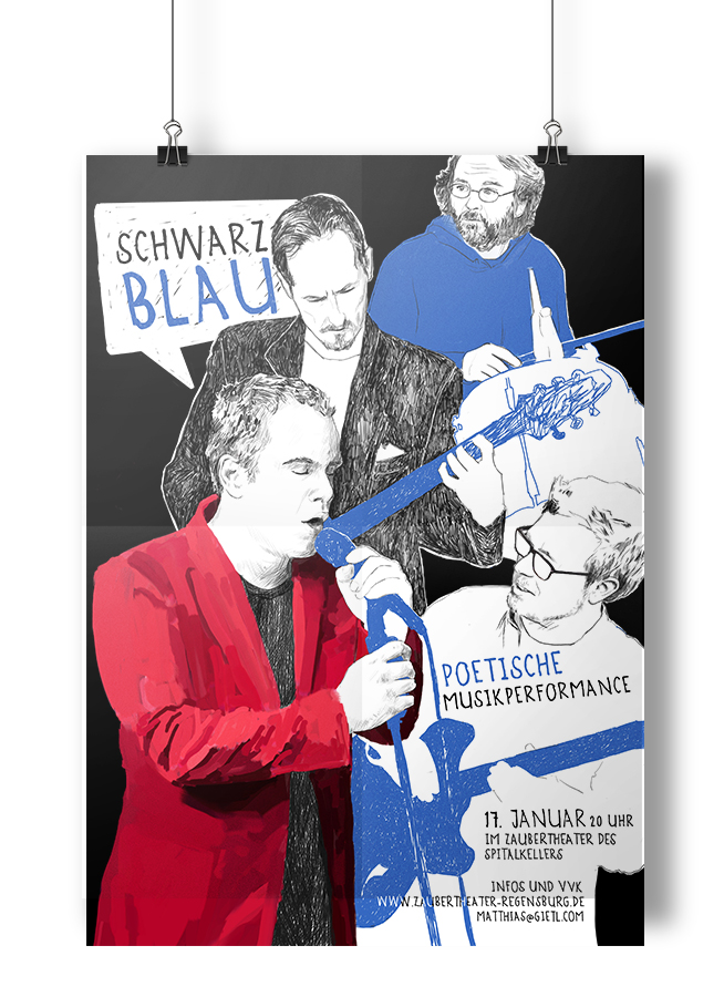 Illustration SCHWARZ BLAU